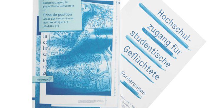 Positionspapier Hochschulzugang für studentische Geflüchtete VSS. Bild: Flavia Von Gunten